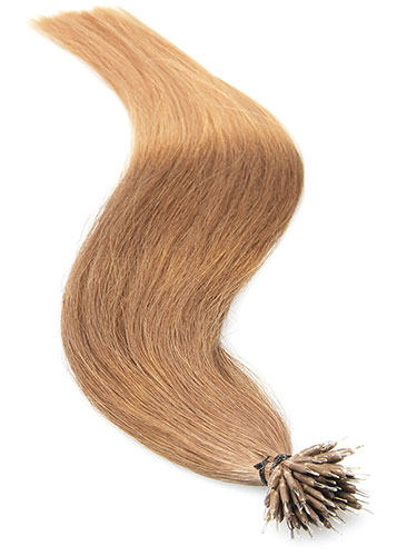 VL Pre Bonded Nano Tip Remy Hair Extensions #T7/14-Dip Dye Chestnut Brown to Caramel 14 inch