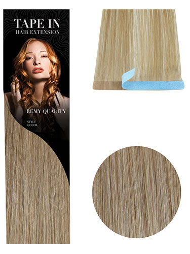 VL Tape In Hair Extensions (10 pieces x 8cm Wide) #18-Ash Blonde 18 inch