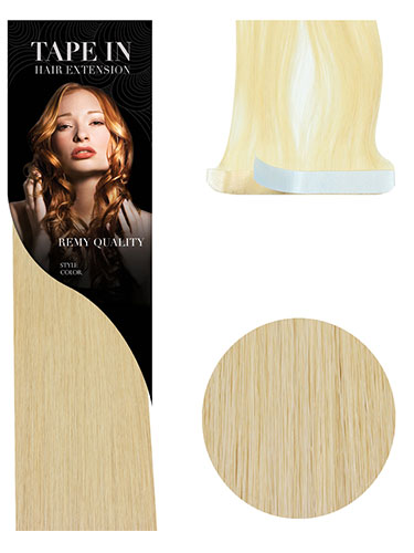 VL Tape In Hair Extensions (10 pieces x 8cm Wide) #22-Medium Blonde 18 inch