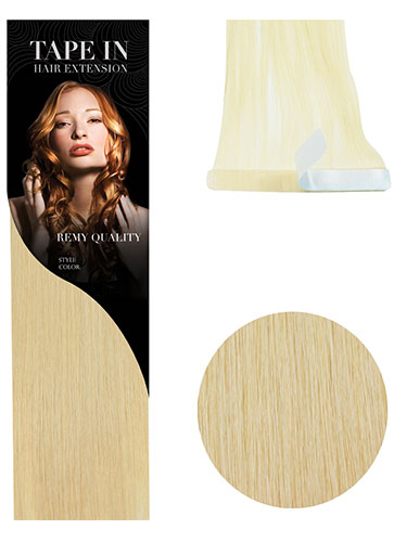 VL Tape In Hair Extensions (10 pieces x 8cm Wide) #24-Light Blonde 18 inch
