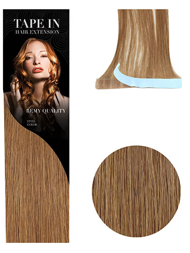 VL Tape In Hair Extensions (10 pieces x 8cm Wide) #6-Medium Brown 18 inch