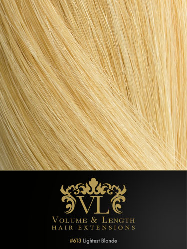 VLII Weft / Weave Remy Hair Extensions #613-Lightest Blonde 18 inch 100g