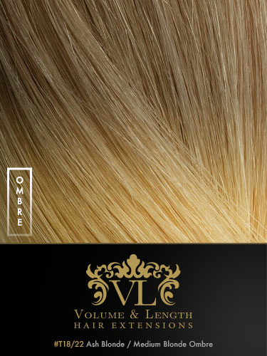 VLII Weft / Weave Remy Hair Extensions #T18/22 18 inch 150g