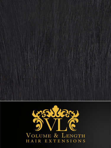 VL Remy Weft Human Hair Extensions #1-Jet Black 14 inch 50g