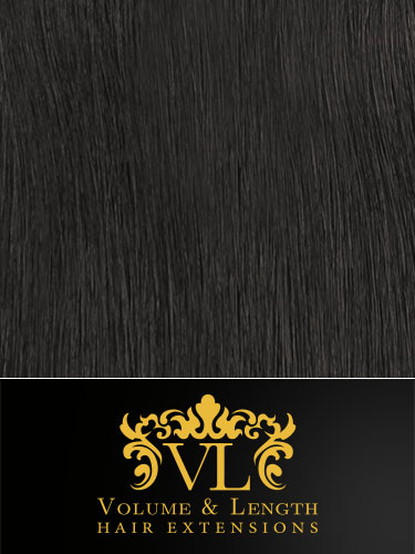 VL Remy Weft Human Hair Extensions #1B-Natural Black 14 inch 100g