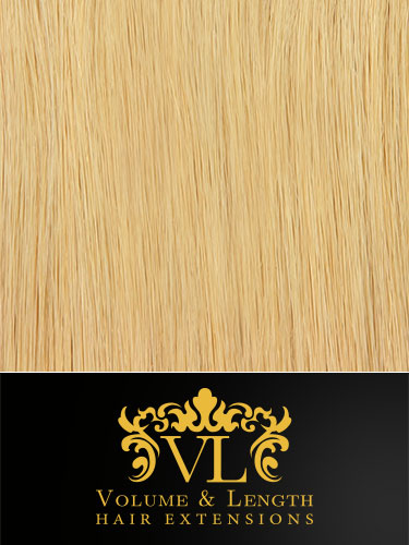 VL Remy Weft Human Hair Extensions #22-Medium Blonde 18 inch 50g