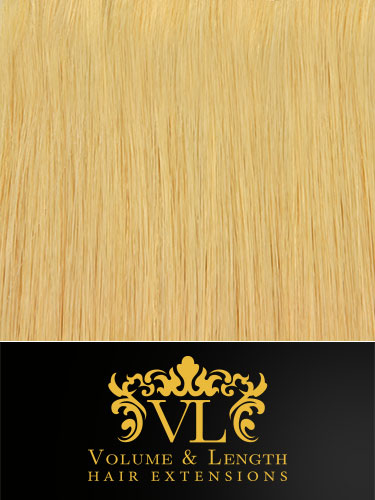 VL Remy Weft Human Hair Extensions #24-Light Blonde 14 inch 150g