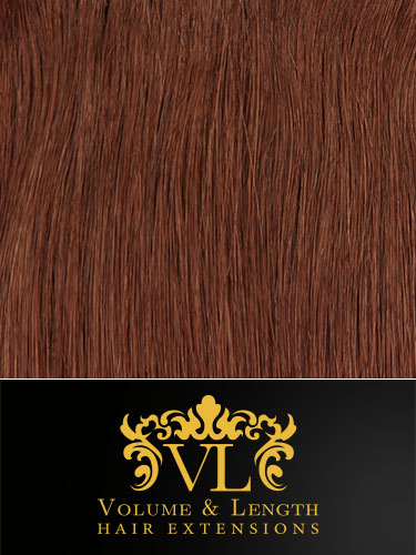 VL Remy Weft Human Hair Extensions #30-Auburn 18 inch 150g