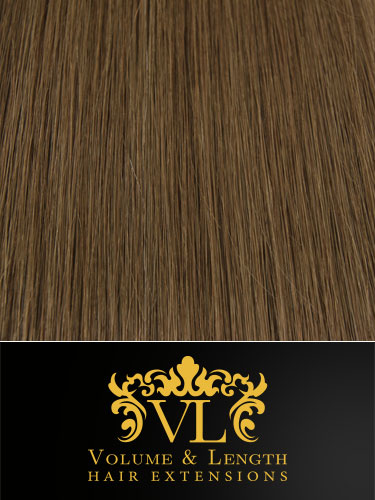 VL Remy Weft Human Hair Extensions #5-Dark Ash Brown 14 inch 150g