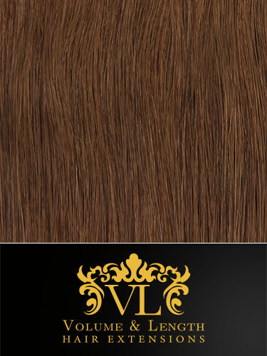 VL Remy Weft Human Hair Extensions #6-Medium Brown 22 inch 100g