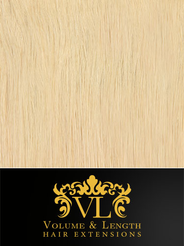 VL Remy Weft Human Hair Extensions #60-Platinum Blonde 14 inch 50g