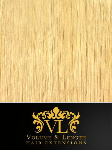 VL Remy Weft Human Hair Extensions #613-Lightest Blonde 18 inch 100g