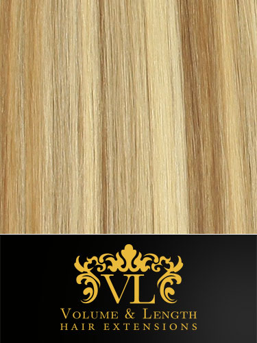 VL Remy Weft Human Hair Extensions #10/22/613-Medium Ash Brown/Medium Blonde/Lightest Blonde Mix 22 inch 100g