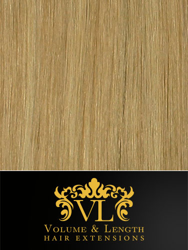 VL Remy Weft Human Hair Extensions #PV01/60-Light Ash Blonde Mix 14 inch 100g