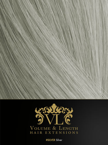 VL Remy Weft Human Hair Extensions #Silver 18 inch 150g